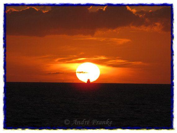 Solnedgången över Östersjön i slutet på juli 2009