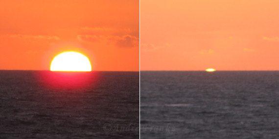 Solnedgångens olika definitioner - solens mittpunkt eller överkant