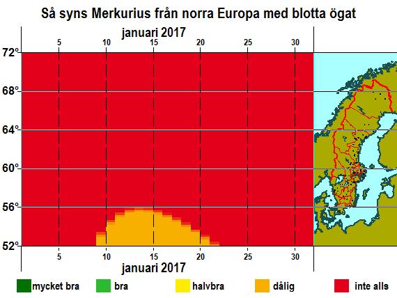Så syns Merkurius från norra Europa med blotta ögat