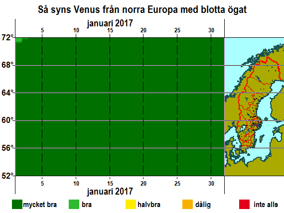 Så syns Venus från norra Europa med blotta ögat