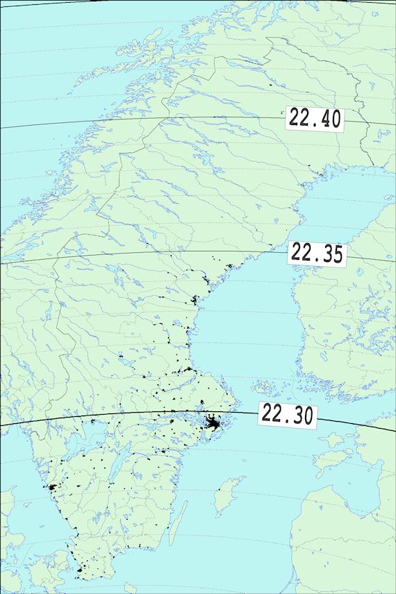2017-12-08 Tiden då månen börjar ockultera Regulus sedd från Sverige