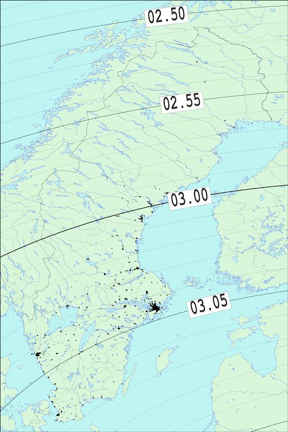 2017-12-31 Tiden då månen slutar ockultera Aldebaran sedd från Sverige