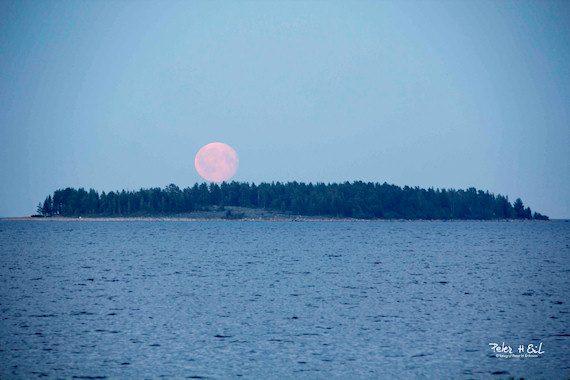 Månen i augusti 2017. Foto: Peter H. Eriksson, Piteå