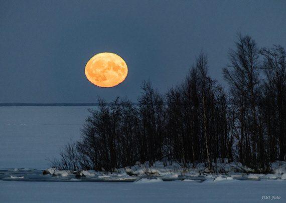 Supermånen i december 2017. Foto: Ulf Jonsson, Luleå