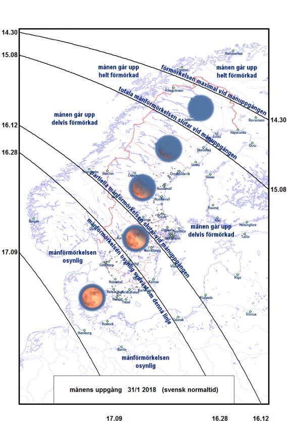 2018-01-31 Fullmånens utseende vid eller strax efter att den har gått upp i nordost
