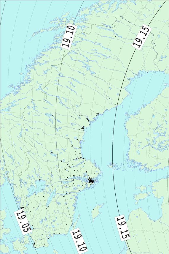 2018-02-23 Tiden då månen slutar ockultera Aldebaran sedd från Sverige
