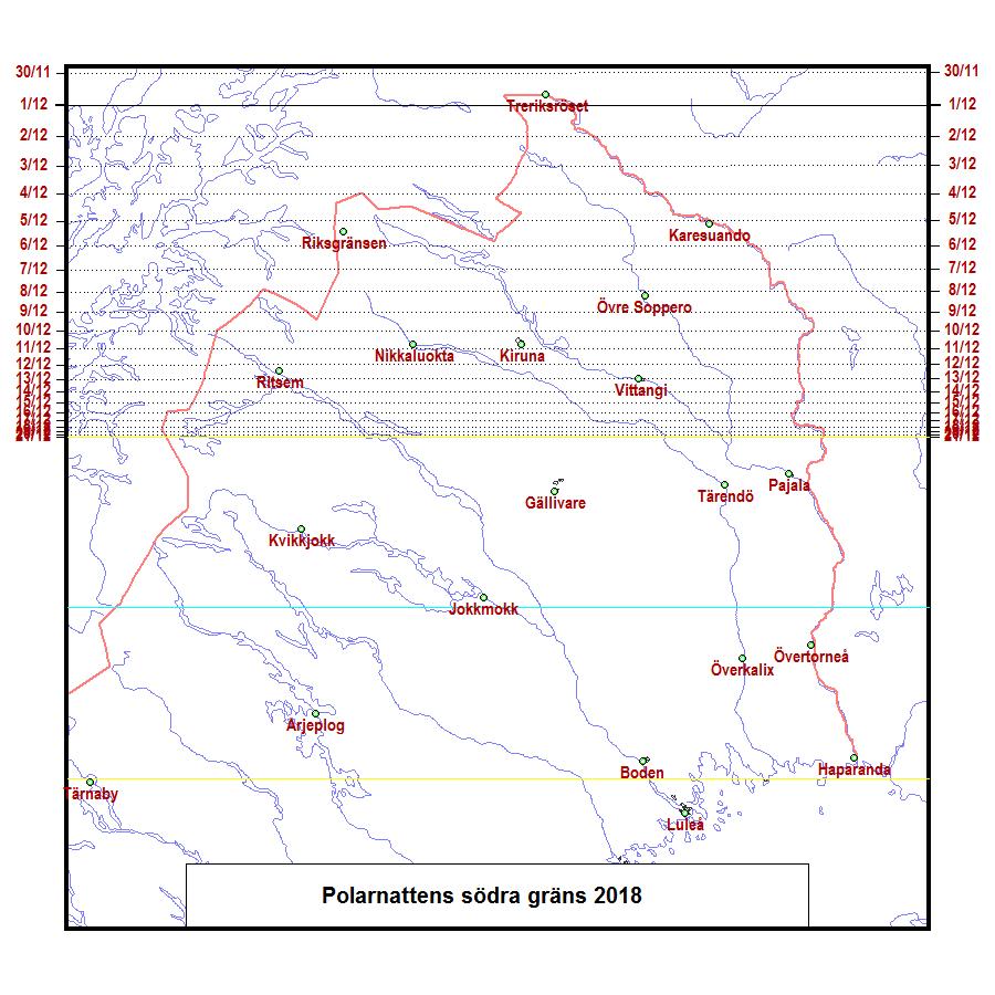 orter söder om norra polcirkeln