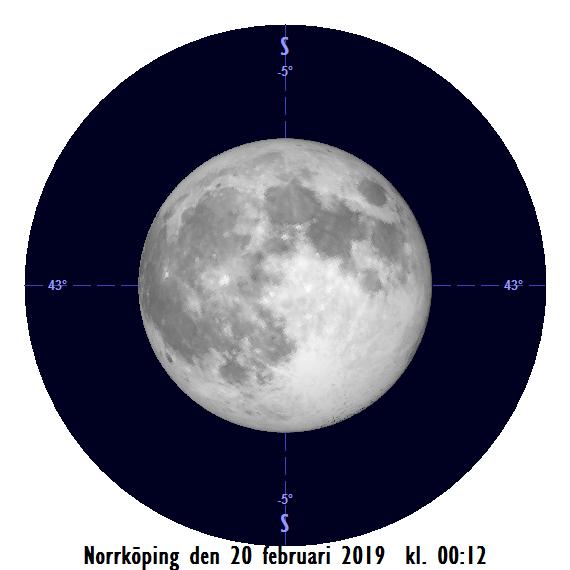 2019-02-20 kl. 00:12 Månen som störst (sedd från Norrköping)